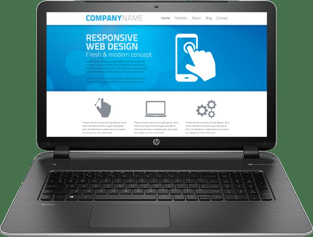 Realizzazione siti web responsive: Notebook
