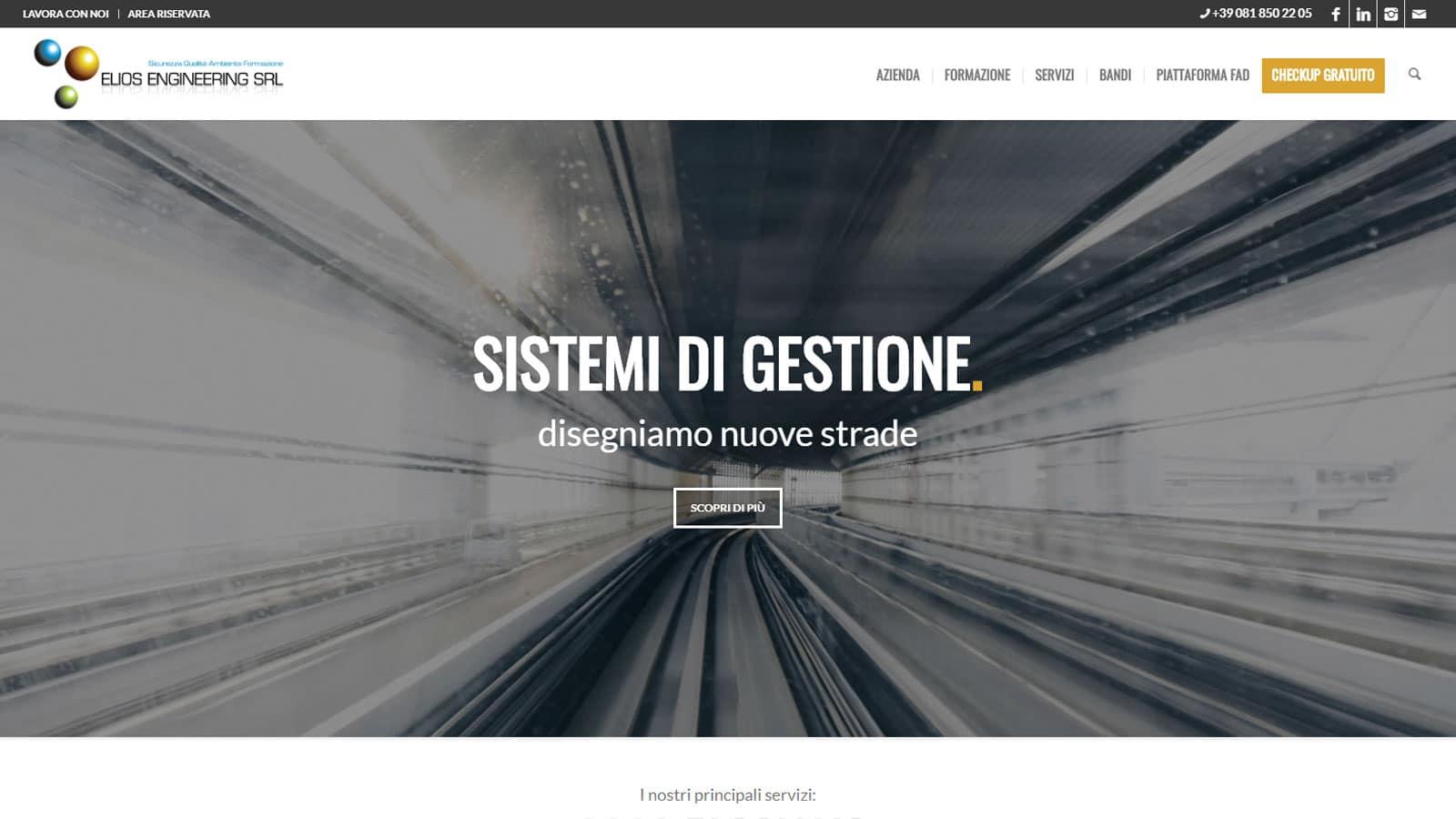 Eliosengineering - sito di Gestione e Formazione per le Aziende