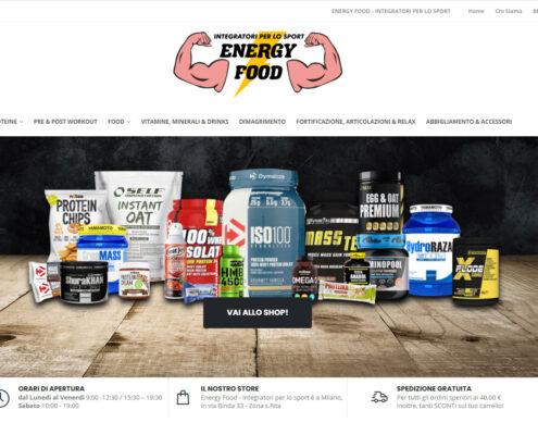 Energy Food - E-commerce integratori SPORT